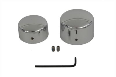 V-Twin 44-0742 - Chrome Rear Axle Nut Cover Set
