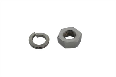 V-Twin 44-0749 - Hex Nut and Lock Washer Set Chrome