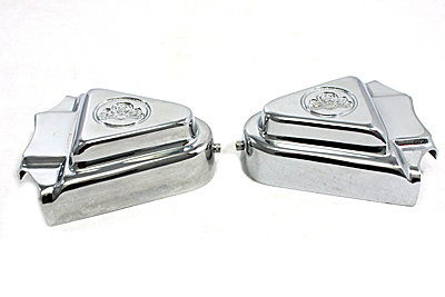 V-Twin 44-0812 - Rear Axle Covers Chrome Skull Design