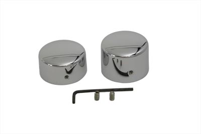 V-Twin 44-0845 - Chrome Rear Axle Nut Cap Set