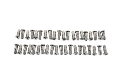 V-Twin 45-0626 - Spoke 40 Piece Chrome Nipple Set