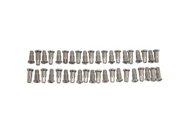 V-Twin 45-0680 - Spoke 40 Piece Stainless Steel Nipple Set
