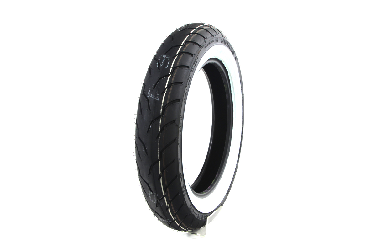 "V-Twin 46-0247 - Dunlop American Elite 130/90B x 16"" Wide Whitew"