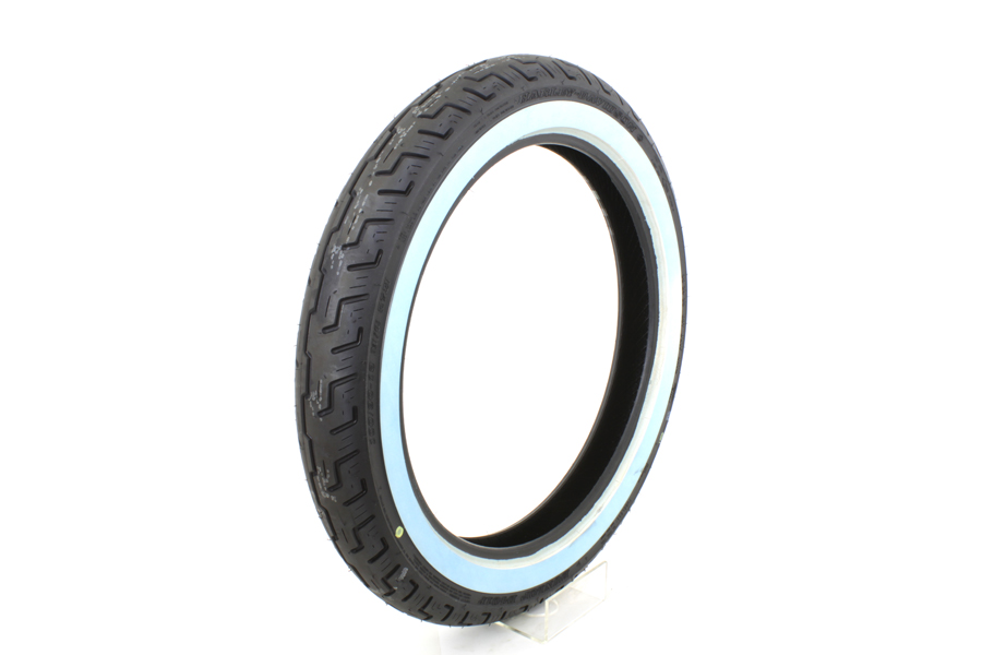 "V-Twin 46-0462 - Dunlop D401 100/90H X 19"" Front Wide Whitewall"