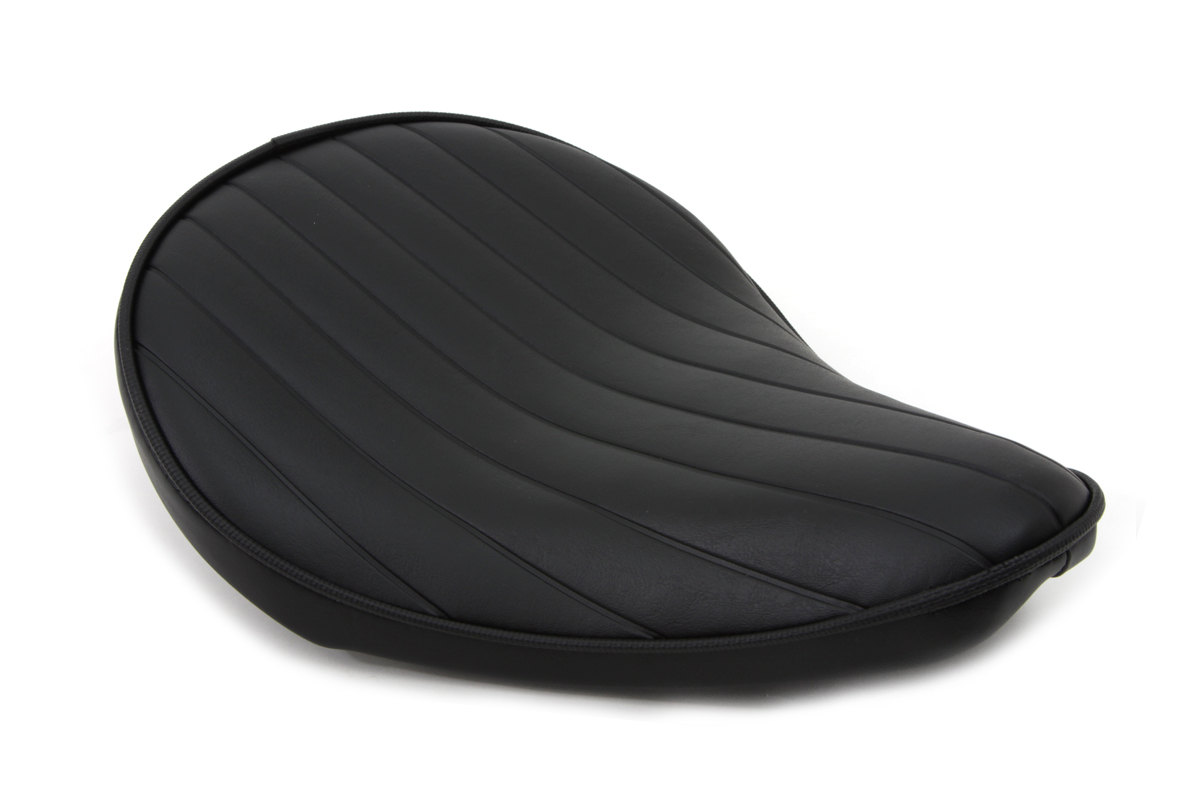V-Twin 47-0084 - Black Tuck and Roll Solo Seat Small