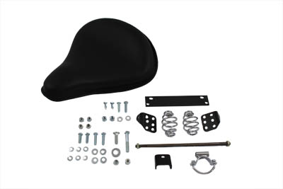 V-Twin 47-0120 - Black Leather Solo Seat With Mount Kit