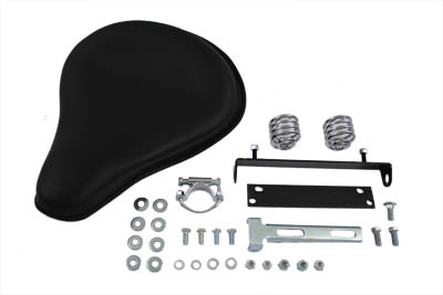 V-Twin 47-0131 - Black Leather Solo Seat Kit