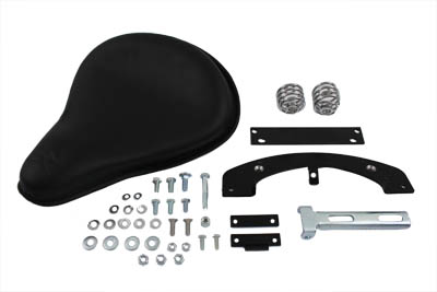 V-Twin 47-0132 - Black Leather Solo Seat Kit