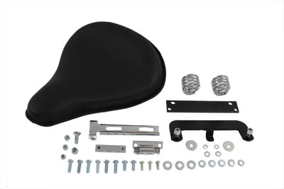 V-Twin 47-0133 - Black Leather Solo Seat Kit