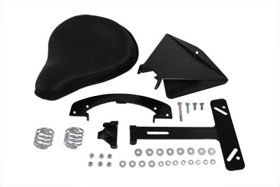 V-Twin 47-0134 - Black Leather Solo Seat Kit