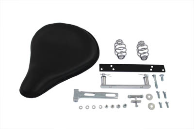 V-Twin 47-0135 - Black Leather Solo Seat and Mount Kit