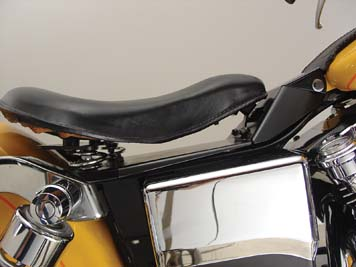 V-Twin 47-0147 - Black Leather Solo Seat and Mount Kit