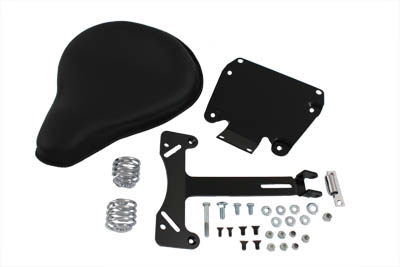 V-Twin 47-0149 - Black Leather Solo Seat and Mount Kit