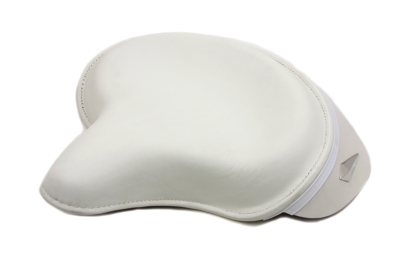V-Twin 47-0264 - White Leather Police Style Solo Seat