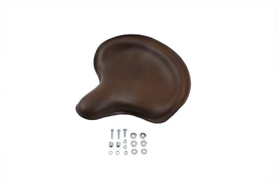 V-Twin 47-0509 - Replica Dark Brown Leather Solo Seat
