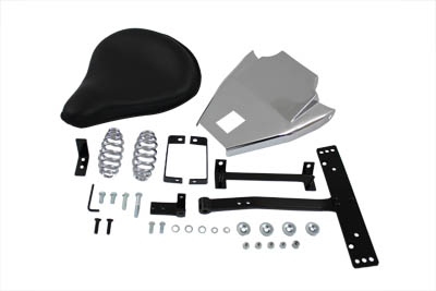 V-Twin 47-0548 - Black Leather Solo With Mount Kit