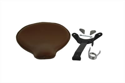 V-Twin 47-0605 - Brown Leather Velo Racer Solo Seat Kit