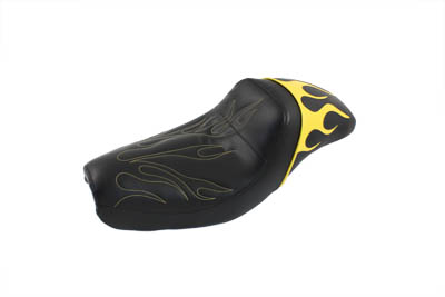 V-Twin 47-0856 - Gunfighter Seat Yellow Flame Style
