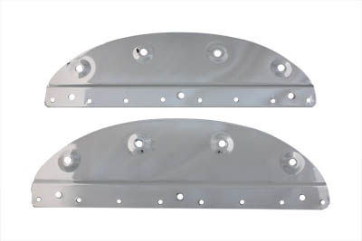 V-Twin 48-0176 - Chrome Saddlebag Mount Plate