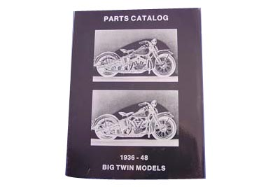 V-Twin 48-0323 - Spare Parts Book for Knucklehead and Flathead