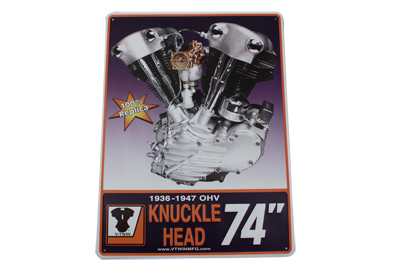 V-Twin 48-0470 - Knucklehead Engine Plaque
