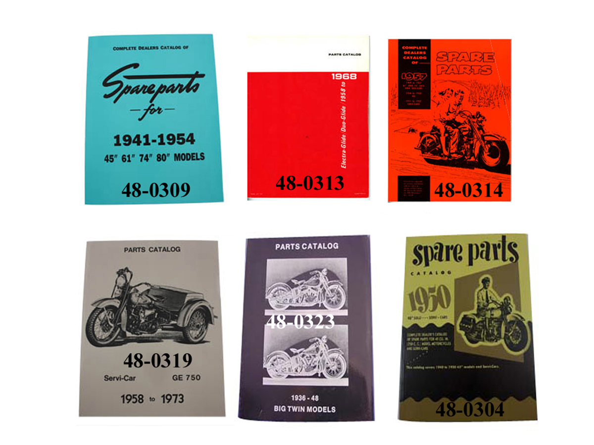 V-Twin 48-0763 - Factory Parts Book Set