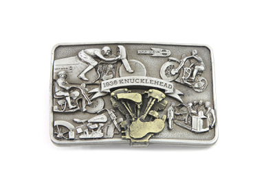 V-Twin 48-1113 - Knucklehead Engine Belt Buckle