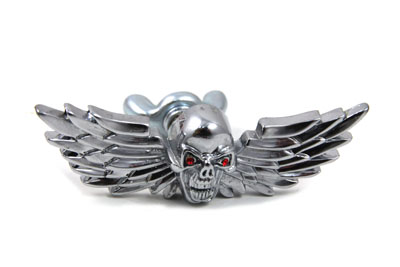 V-Twin 48-1323 - Skull with Wings Medallion Set