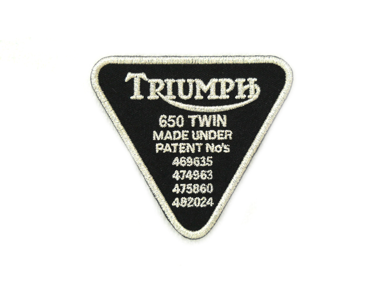 V-Twin 48-1350 - Triumph Patent Tag Patches