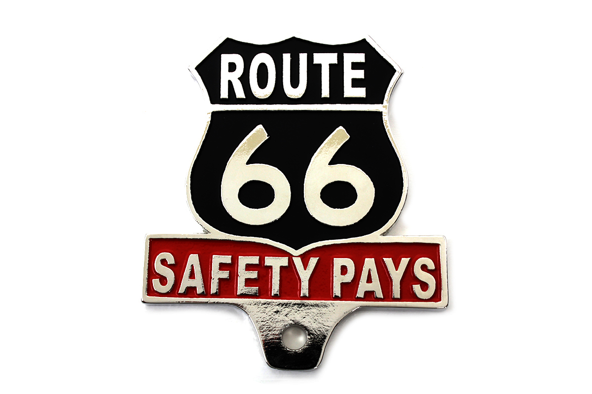 V-Twin 48-1606 - Route 66 License Plate Topper
