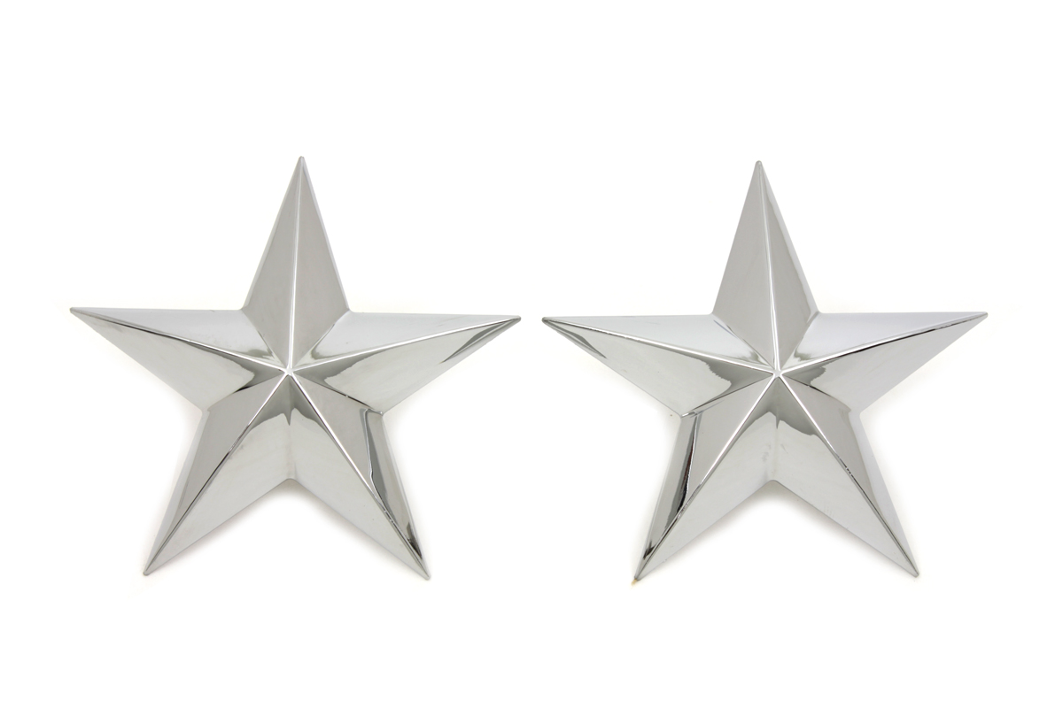 V-Twin 48-1652 - Chrome Decorative Star Stud Set