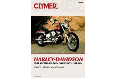 V-Twin 48-1740 - Clymer Repair Manual for FXST-FLST