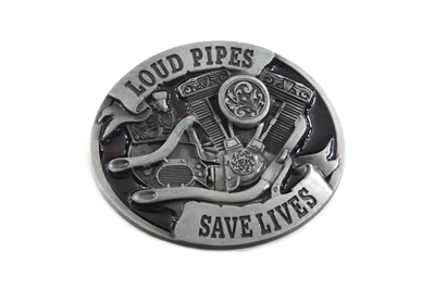 V-Twin 48-1769 - Loud Pipes Belt Buckle