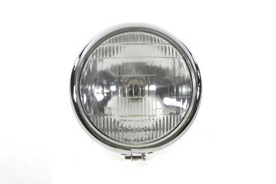 "V-Twin 49-0312 - 6-1/2"" Round Headlamp Chrome"