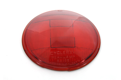 V-Twin 49-0672 - Replica Headlamp Glass Lens Red