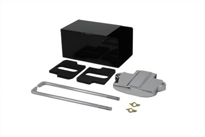 V-Twin 49-0795 - Battery Box Kit with Top and Rods