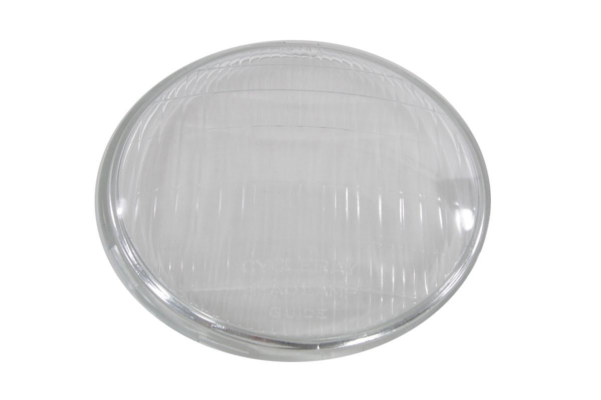 V-Twin 49-0923 - Replica Headlamp Glass Lens Clear