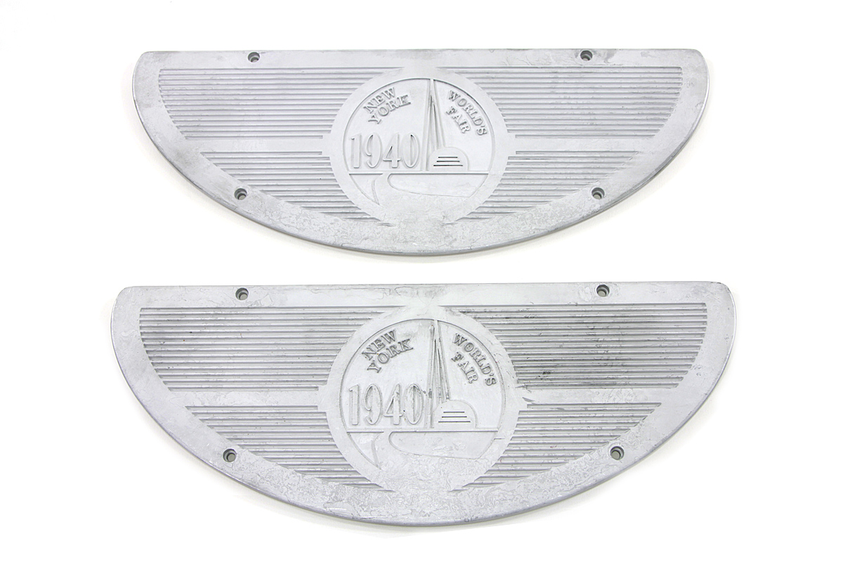 V-Twin 49-1740 - World's Fair Alloy Footboard Inserts
