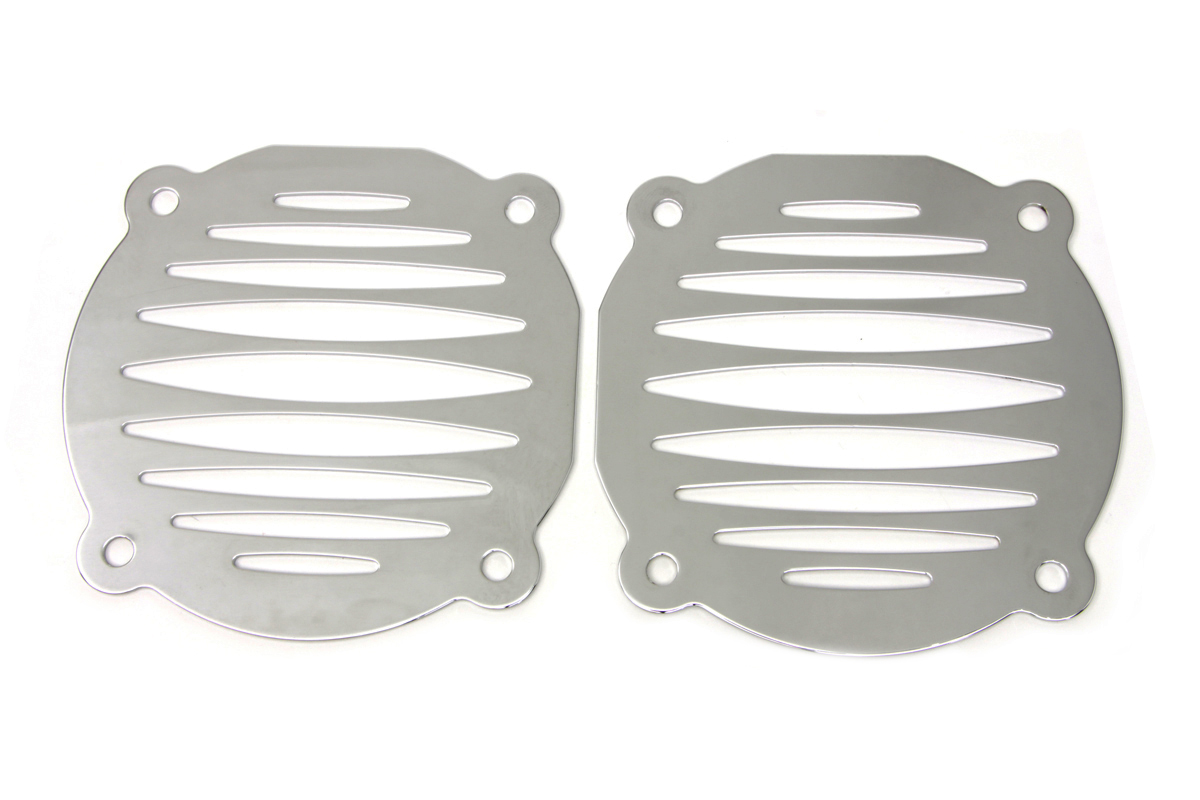 V-Twin 50-0010 - Chrome Deep Cut Speaker Grill Set