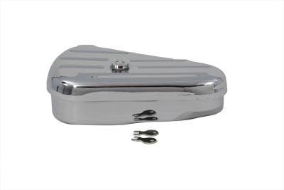 V-Twin 50-0605 - Replica Left Side Chrome Oval Tool Box