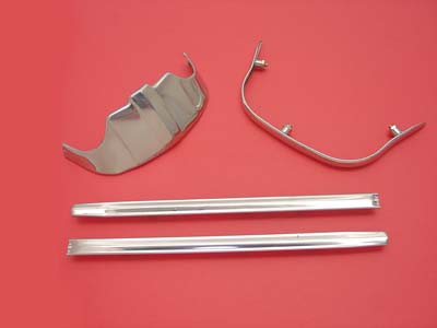 V-Twin 50-0958 - Chrome Front Fender Tip Kit