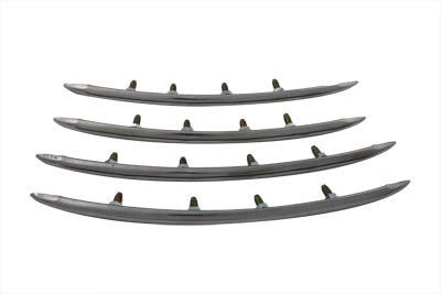 V-Twin 50-1045 - Rear Fender Top Stainless Steel Trim Set