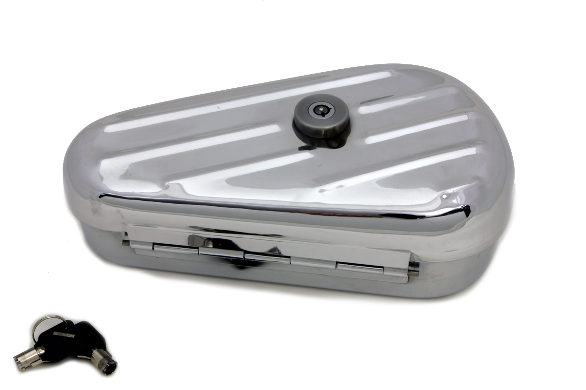 Oval Right Side Black Tool Box,for Harley Davidson,by V-Twin
