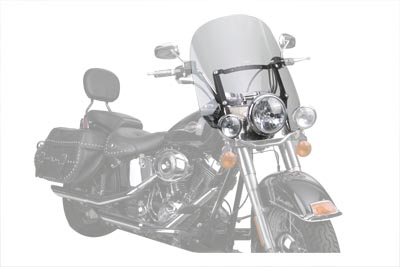 V-Twin 51-0286 - Spartan Quick Release Windshield Clear