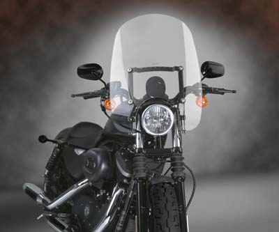 V-Twin 51-0289 - Spartan Quick Release Windshield Clear