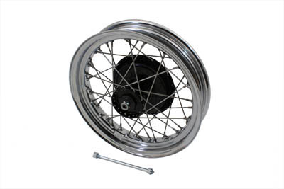 "V-Twin 52-0759 - 18"" Front Wheel with Hub Chrome Rim Stainless"