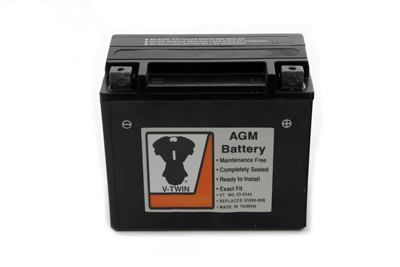V-Twin 53-0545 - AGM Fully Sealed Black Battery