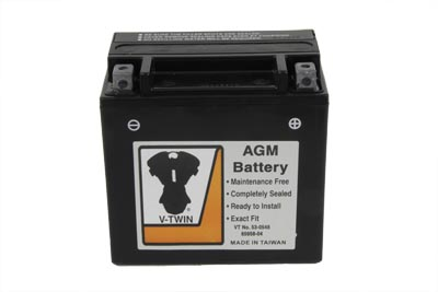 V-Twin 53-0548 - AGM Fully Sealed Black Battery