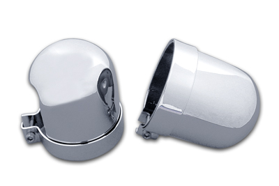 V-Twin 54-0154 - Chrome Dome Style Shock Cover Set