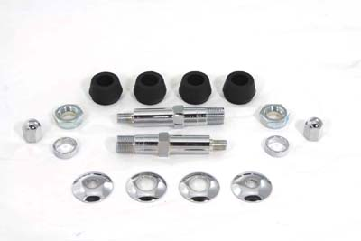 V-Twin 54-0446 - Chrome Lower Rear Shock Stud Kit
